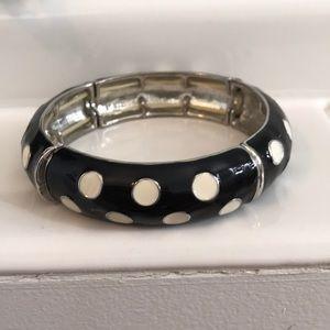 Polka dot fun on this silver enamel bracelet
